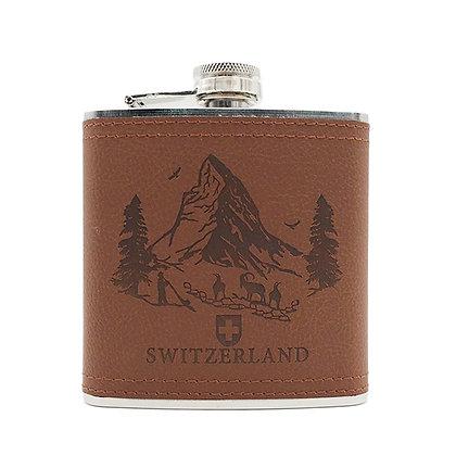 6243 Leather Liquor Flask 5 Ounce