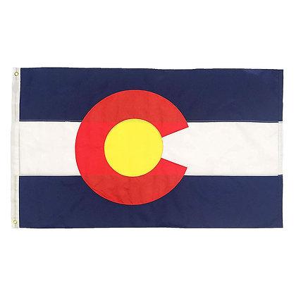 6466 Sewn Polyester Colorado Flag 3x5 FT