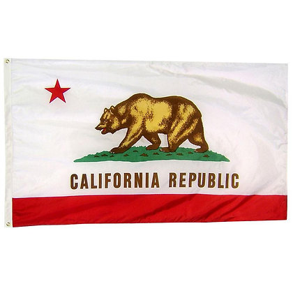 6474 California State Flag 3x5 feet Double Sided Embroidered