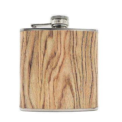 6247 Full Color Imprint Leather Flask 6 OZ