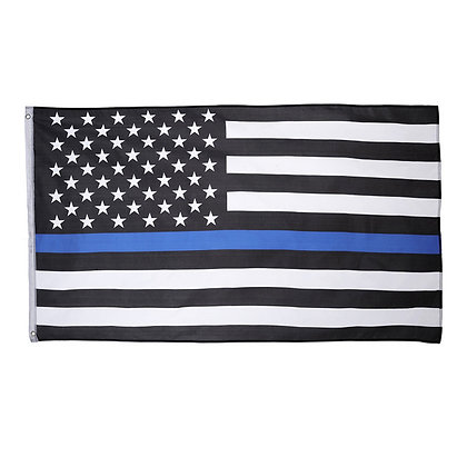 6498 Printed Polyester Blue Line Police Flag 3' x 5'