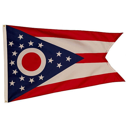 6447 3'x5' Ohio State Embroidered Flag