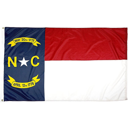 6462 Embroidered NORTH CAROLINA State Flag 3X5 FT