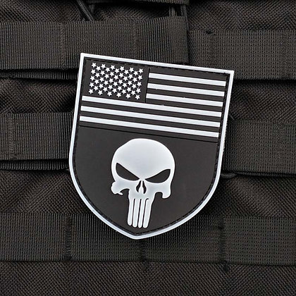 6489 Punisher American Flag PVC Patch