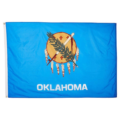 6468 Oklahoma Flag 3x5ft Embroidery