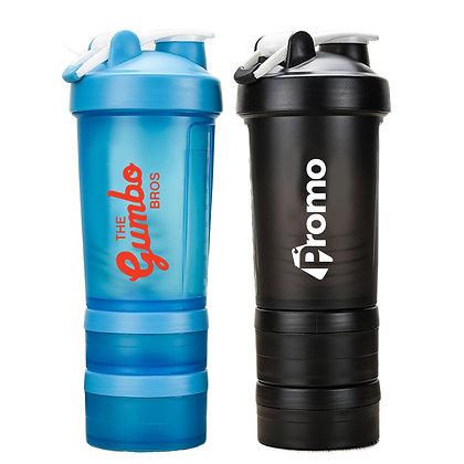 6342 3 Layer 25oz Protein Shaker Bottle with 2 Storage Case