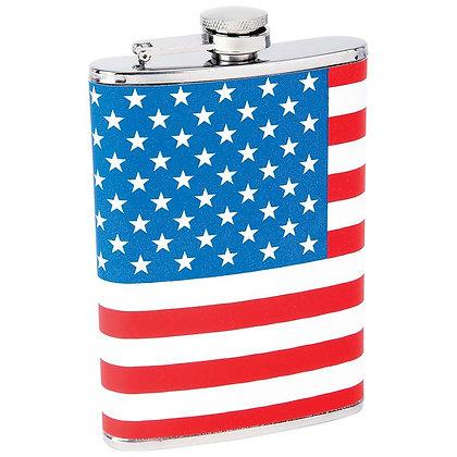 6254 American Flag Flask 8 oz