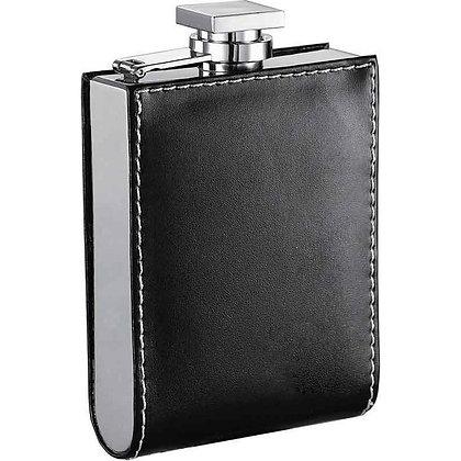 6251 Black Liquor Flask - 6 ounces U Shape