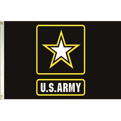 6479 US Army Flag 3ft x 5ft Poly 2-Ply Embroidered