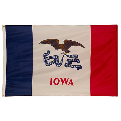 6472 Embroidered US State Flag Iowa Flag 3ft x 5 ft