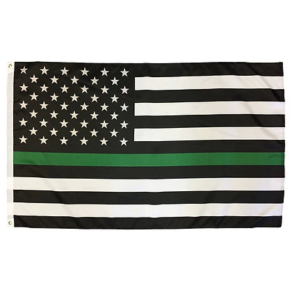 6450 Thin Green Line American Flag - 3 x 5 Feet Flag With Grommet