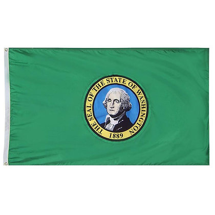 6467 Washington State Flag 3x5 FT Double-sided Embroidered