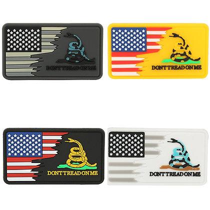 6487 American Flag / Gadsden Snake Don't Tread On Me Patch (PVC)