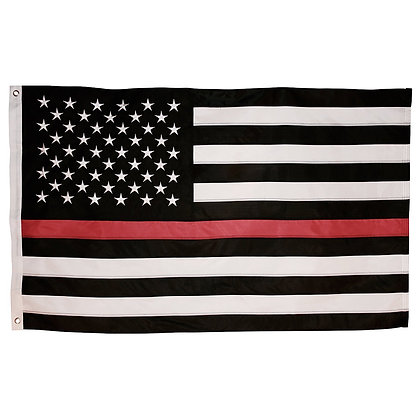 6481 3x5 Foot Thin Red Line USA Polyester Woven Flag Embroidered