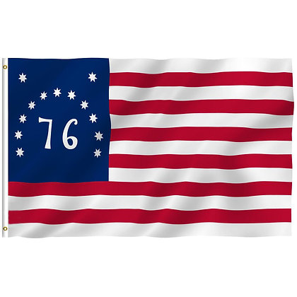 6463 Embroidered Bennington 3x 5 FT Polyester Flag