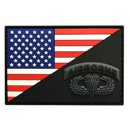 6513 American Flag and Airborne Patch (PVC)