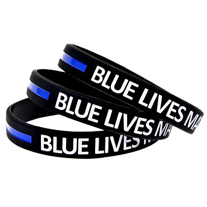6196 Silicone Wristband Color Filled