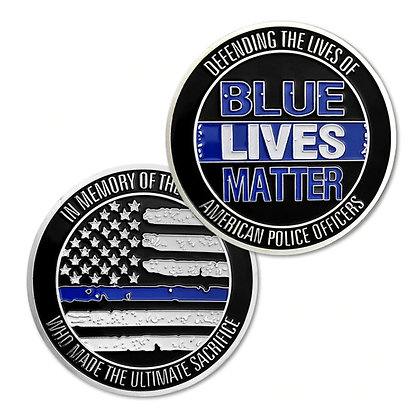 6200 Blue Lives Matter Challenge Coin