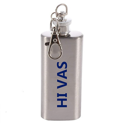 6239 Stainless Steel Key Chain Flask, 2 oz