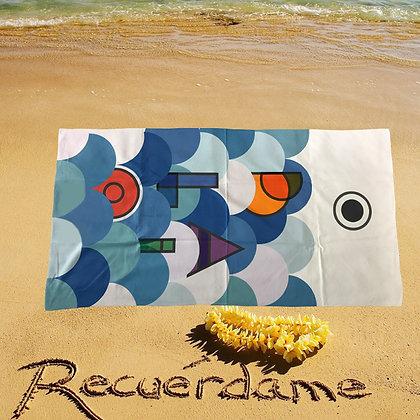 6323 Custom Beach Towel, Full Color, Vibrant Printing
