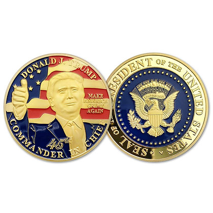 6197 Trump's Presidential Challenge Coin 1.5''