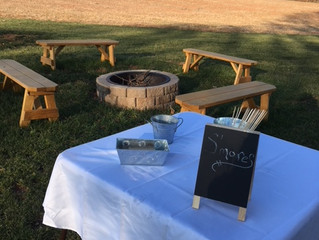 S'mores at Prosperity Mansion. Just another part of an outdoor / garden wedding venue. Located i
