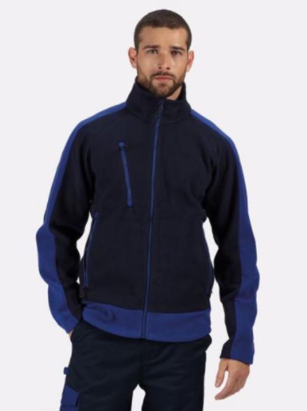 Contrast Fleece - Navy/Royal