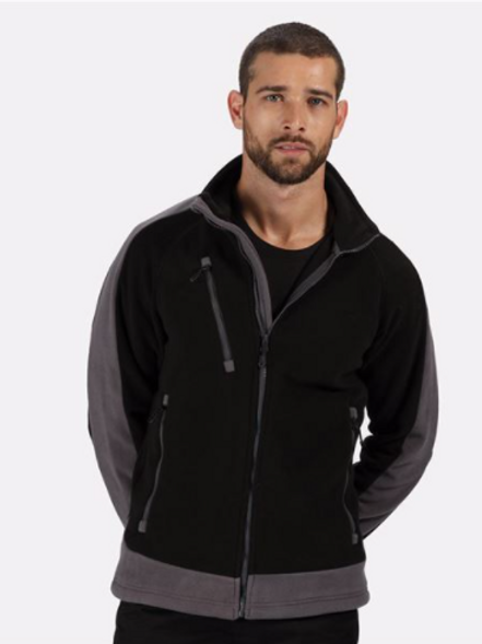 Contrast Fleece - Black/Grey