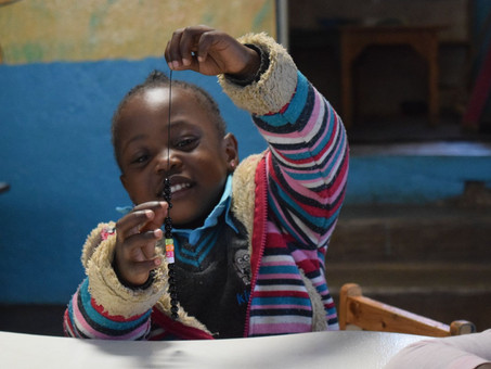 "Kibera Camp Day 2- ""Art is as natural as sunshine and as vital as nourishment,"" MaryAnn F. Kohl."