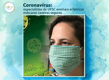 Coronavírus: especialistas da UFSC ensinam a fabricar máscaras caseiras seguras