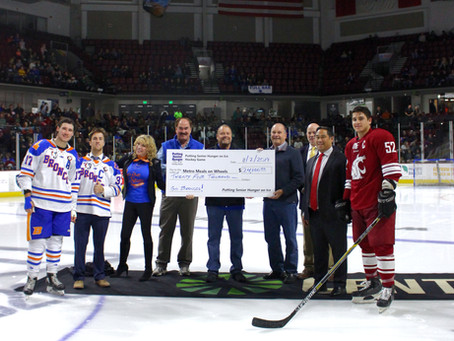 BRONCOS AND COUGARS RAISE $24,000 FOR METRO MEALS ON WHEELS