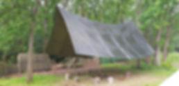 bushcraft camp in Dorset
