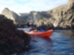 Sea kayak guiding in Dorset