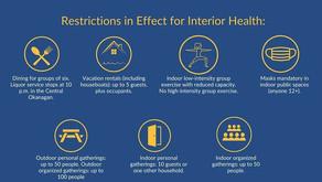 Interior Health Authority Social Restrictions Return