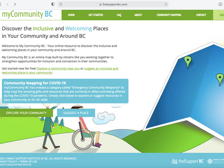 myCommunity BC - An online resource for inclusivity