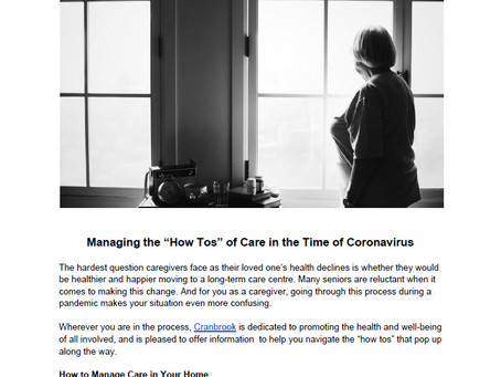 """Managing the """"How to"""" of Care During Covid"""