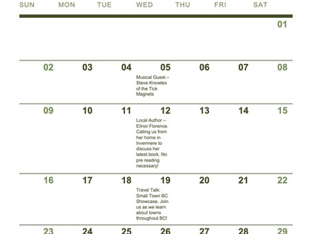 Check out our May Senior Centre Without Walls Schedule