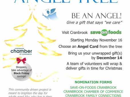 Angel Tree Goes Up at SAVE-ON Today!