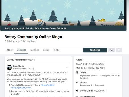 Cranbrook Rotary On-line BINGO on Facebook