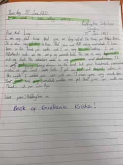 Krisha's excellent writing!