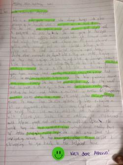 Atharva's wonderful writing!