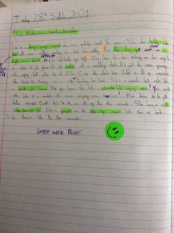 Bilal's brilliant writing!