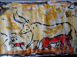 Bilal's incredible cave painting!