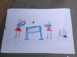 Hannah's wondeful writing and drawing!