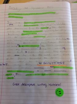 Michaela's brilliant writing!