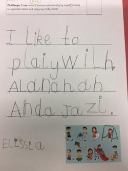Elissia's fantastic writing!