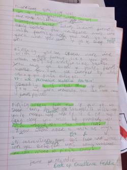 Freddie's wonderful writing!