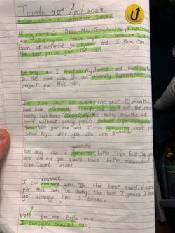 Bella's fantastic writing!