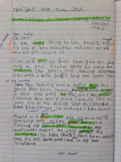 Skyla's brilliant writing!