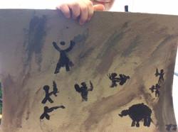 JJ's fabulous Stone Age painting!